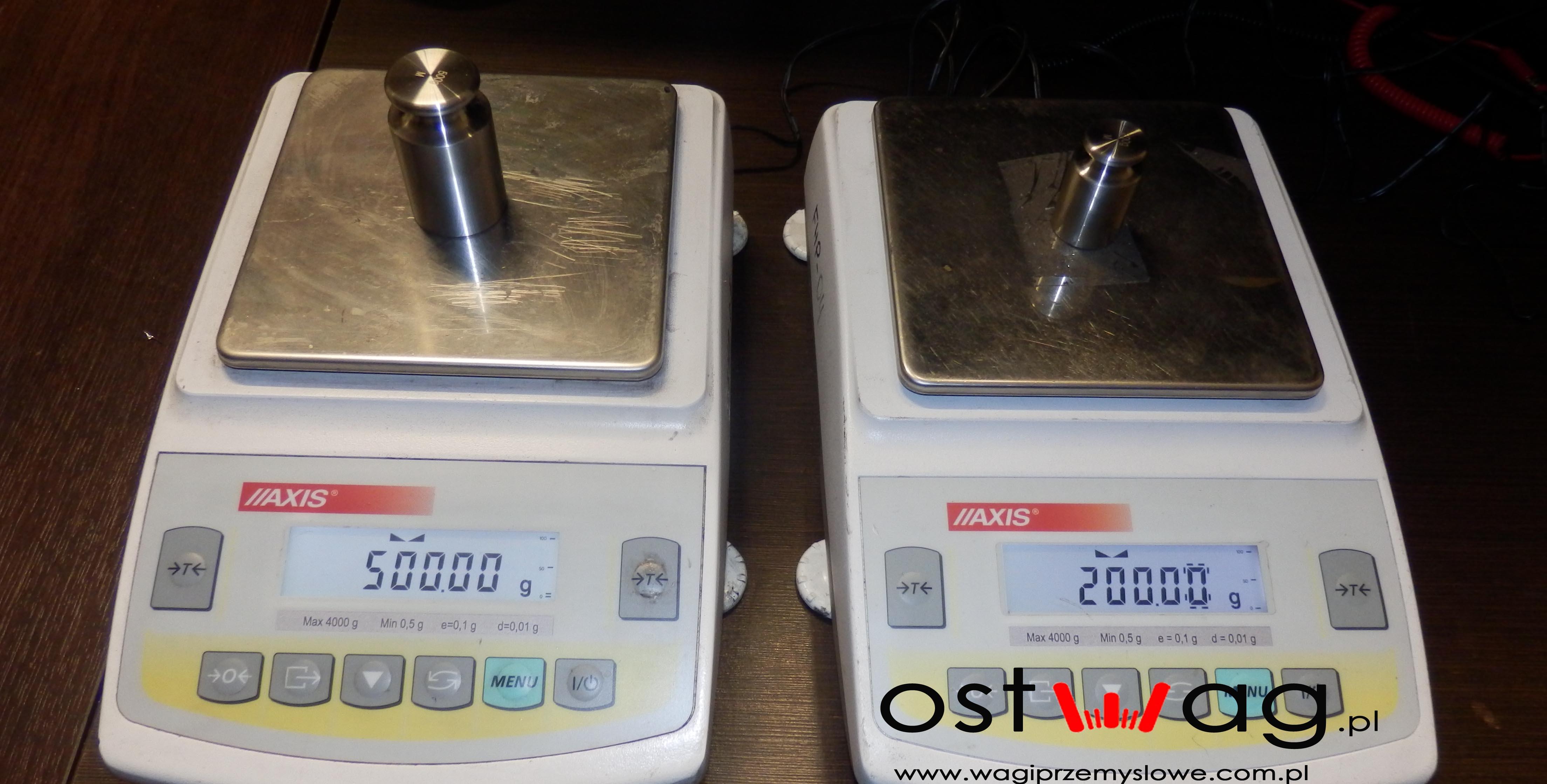 Legalizacja wag laboratoryjnych AXIS www.ostwag.pl