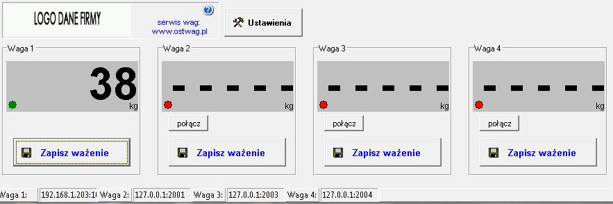 Program wagowy do wag zbiornikowych komunikacja LAN