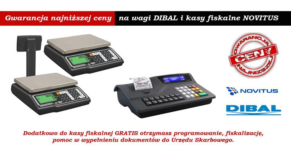 Gwarancja najniższej ceny na wagi DIBAL NOVITUS