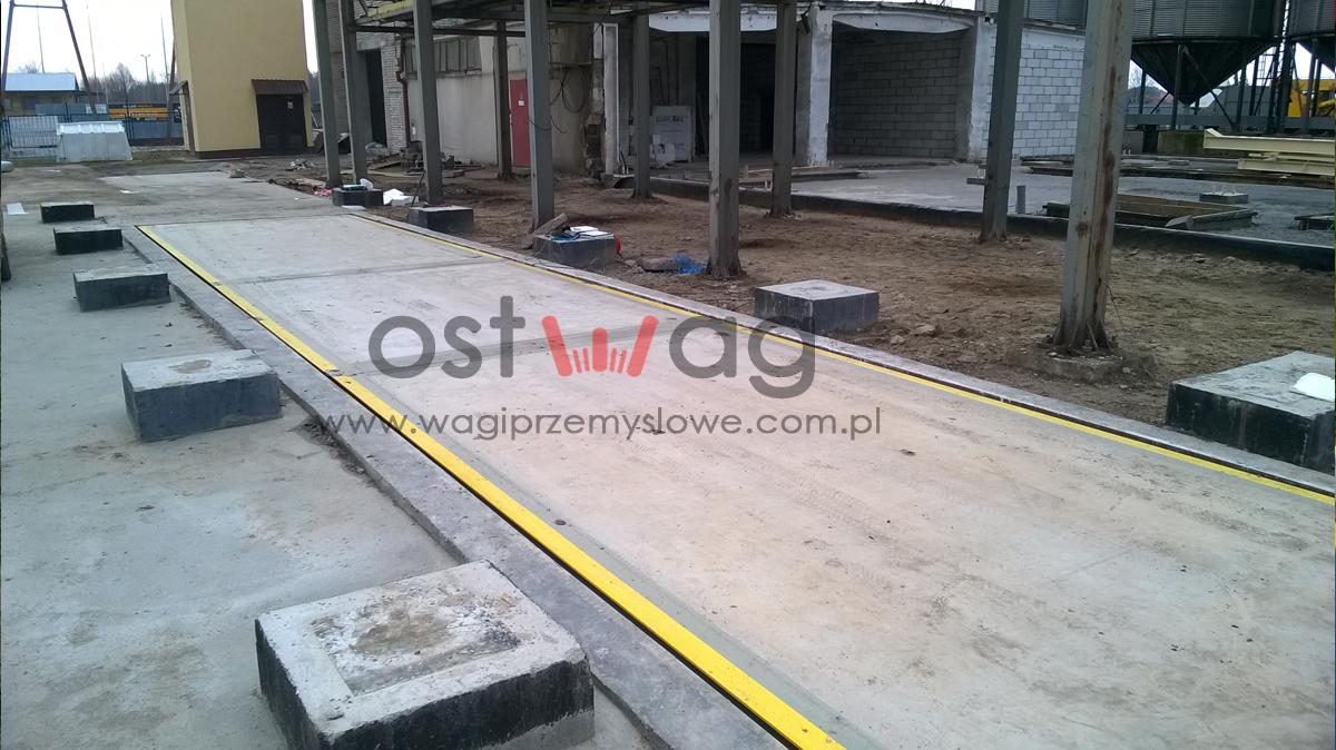 Waga samochodowa zagłębiana betonowa 18m 60t