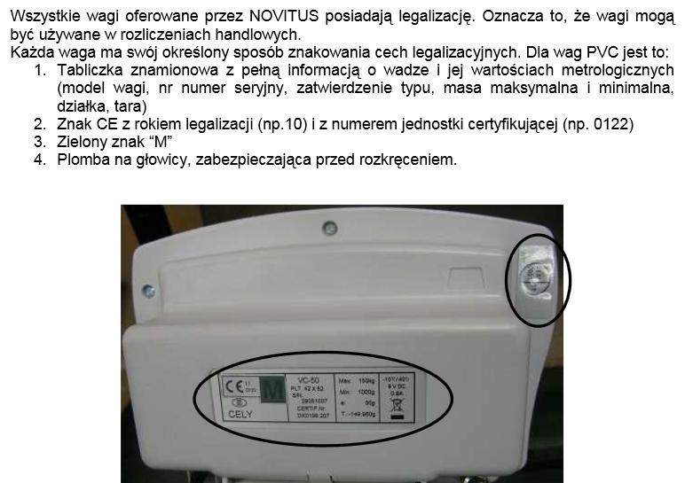 Legalizacja kalibracja wagi dibal pvc cely 50
